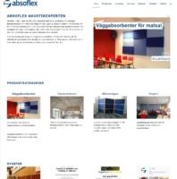 Absoflex Ljudabsorbenter Hemsida